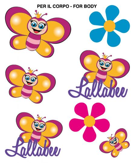 LALLABEE BODY TATTOOS & NAIL STICKERSCosmetics Online IE
