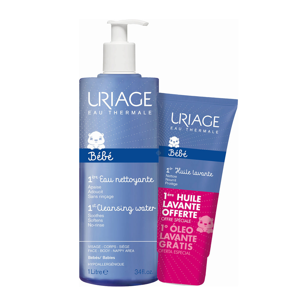 Uriage 1st Cleansing Water 1L + Uriage 1st Cleansing Oil 200ml