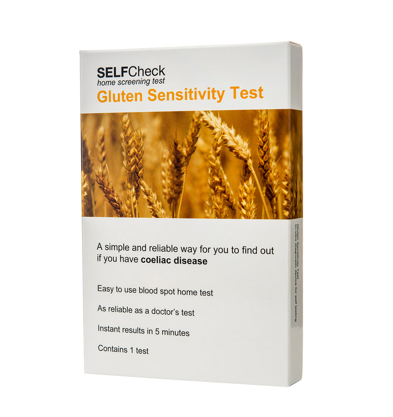 SELFCheck Coeliac (Gluten Sensitivity) Test- 1 TestCosmetics Online IE