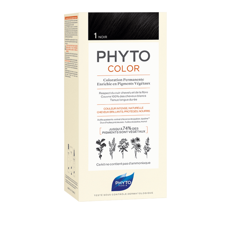 PHYTOCOLOR Permenant Hair Colour SHADE 1 (Black)Cosmetics Online IE