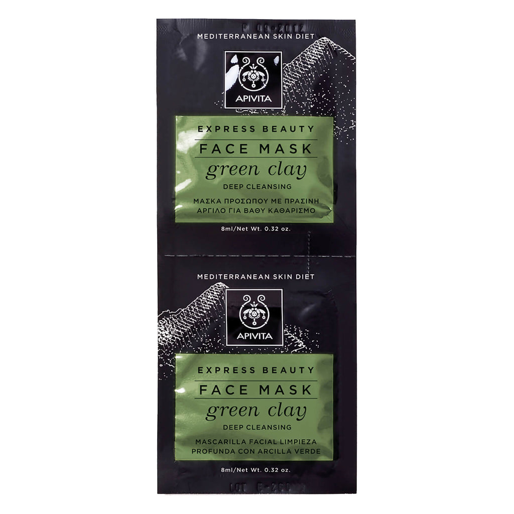 Apivita Green Clay Deep Cleansing Face Mask 2x8ml