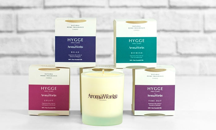 AromaWorks Hygge Candle-Time Out lavender and patchouli 220gmCosmetics Online IE