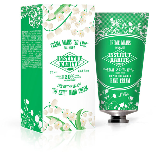 Institut Karité Paris Shea Hand Cream So Chic - Lily of the Valley 75ml-cosmetics-online