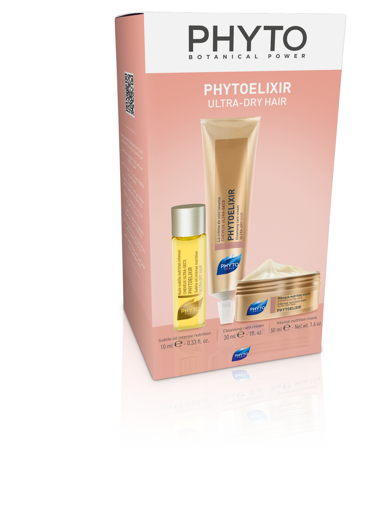 PHYTO PHYTOELIXIR Mini Model Travel Kit for Ultra Dry Hair (Oil, Cream, Mask) - Cosmetics Online IE
