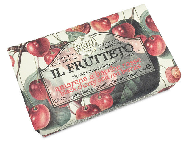 Nesti Dante Soap- Il Frutteto Black Cherry & Red Berries 250gm BarCosmetics Online IE