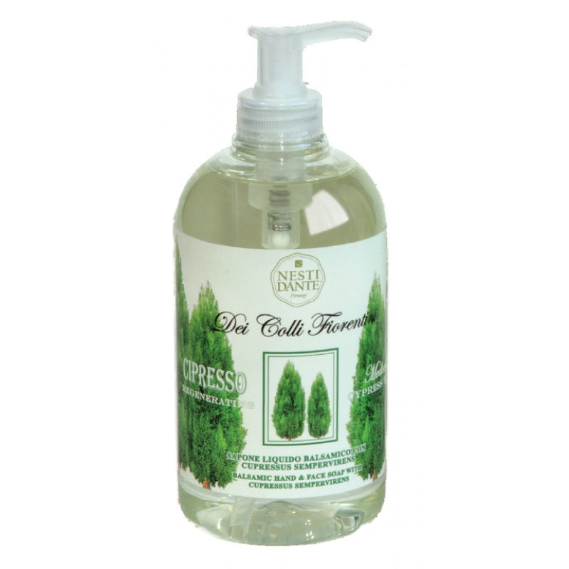 Nesti Dante Dei Colli Fiorentini - CYPRESS Refreshing Liquid Soap 500ml Pump BottleCosmetics Online IE