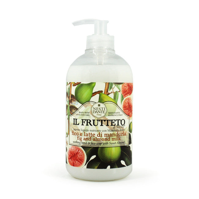 Nesti Dante Il Frutteto - FIG & ALMOND MILK Liquid Soap 500ml Pump BottleCosmetics Online IE