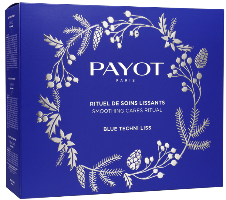 PAYOT BLUE TECHNI LISS XMAS SET (4 PCE) DAY CREAM, EYE CREAM , MASK & FREE POUCH