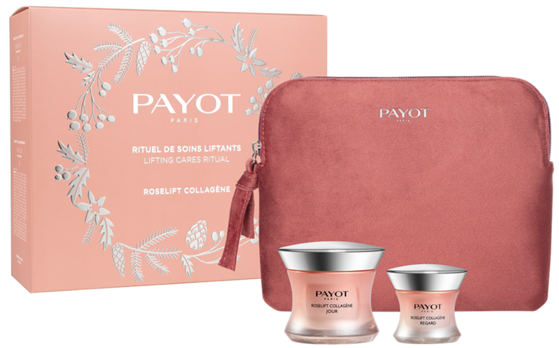 PAYOT ROSELIFT COLLAGENE XMAS SET 2020 (3 PIECE) DAY CREAM,EYE CREAM & FREE POUCH