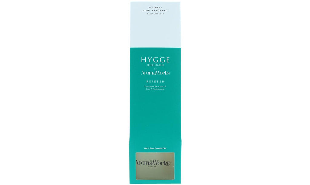AromaWorks Hygge Reed Diffuser- Refresh Lime and FrankincenseCosmetics Online IE