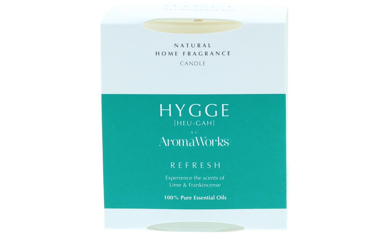 AromaWorks Hygge Candle -Refresh Lime and Frankincense  220gmCosmetics Online IE