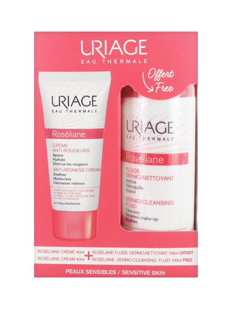 Uriage Roséliane Anti-Redness Cream 40ml + Free Dermo-Soothing 100ml