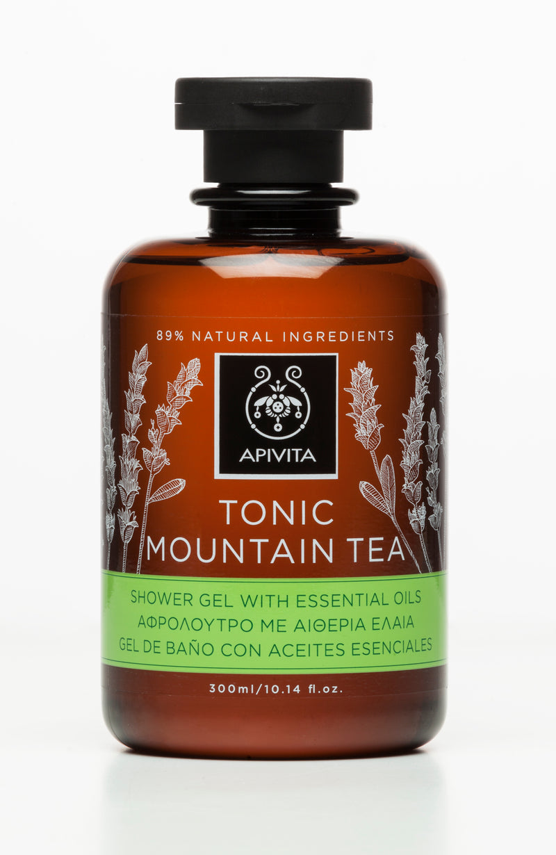 Apivita Tonic Mountain Tea Shower Gel 300mlCosmetics Online IE