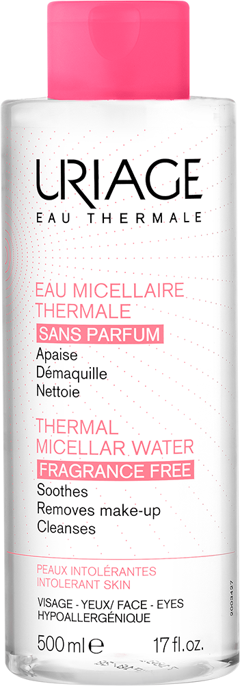 URIAGE Thermal Micellar Cleansing Water (Intolerant Skin- Fragrance Free) – 500mlCosmetics Online IE