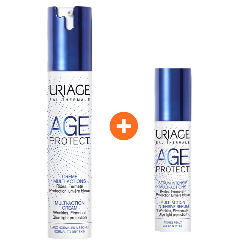 Uriage Age Protect Multi-Action Cream 40ml + Intensive Serum 10ml