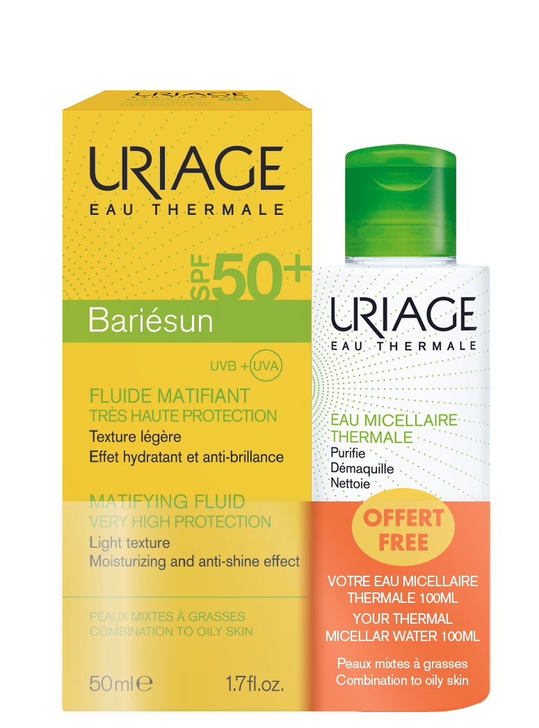 Uriage Bareisun Mat SPF50 50ml + Oily Micellar 100ml