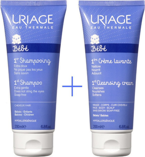 Uriage Bebe 1st Shampoo 200ml + 1st Creme Lavante 200ml