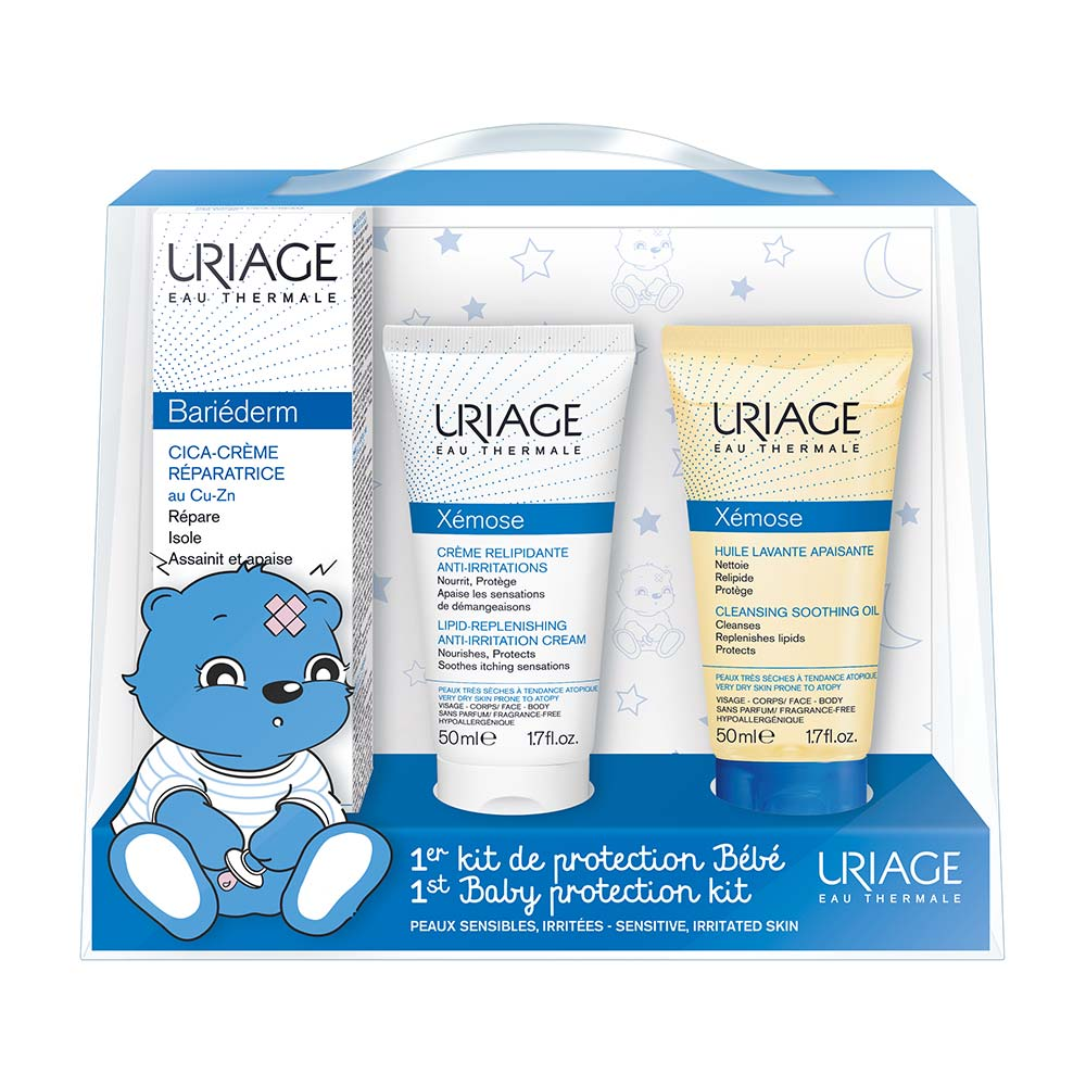 Uriage Bebe Bariederm Cica 40ml + Uriage Xemose Soothing Cleansing Oil 50ml + Uriage Xemose Lipid-Replenishing Anti-Irritation Cream 50ml