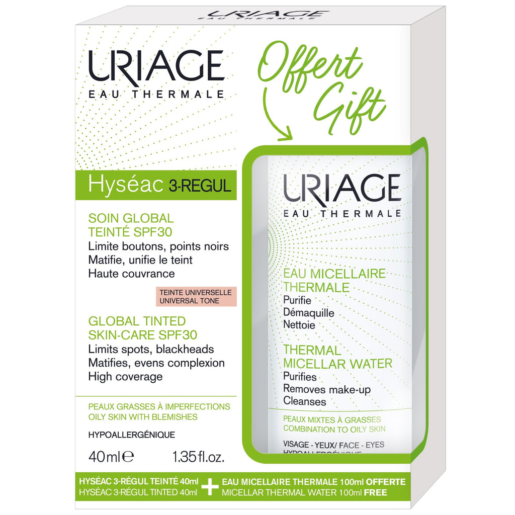 Uriage Hyseac 3 Regul Tint 40ml + Oily Micel Water 100ml