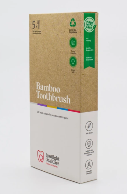 Spotlight 5 Pack Bamboo ToothbrushCosmetics Online IE