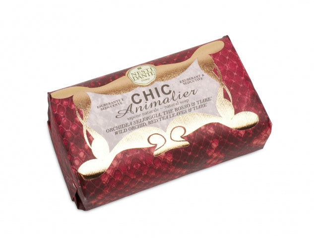 "Nesti Dante ""CHIC ANIMALIER"" RED (pyton) 250gm Soap BarCosmetics Online IE"