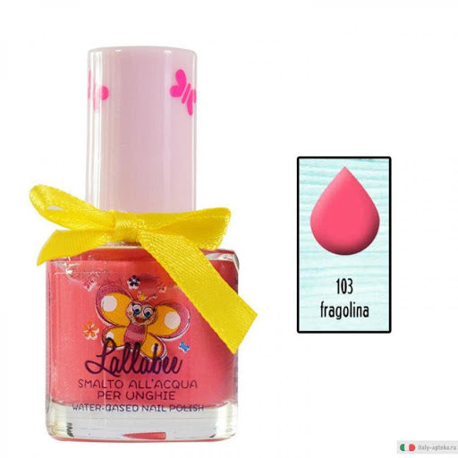LALLABEE -Childrens Water-based nail polish  (103 Fragolina Red)Cosmetics Online IE