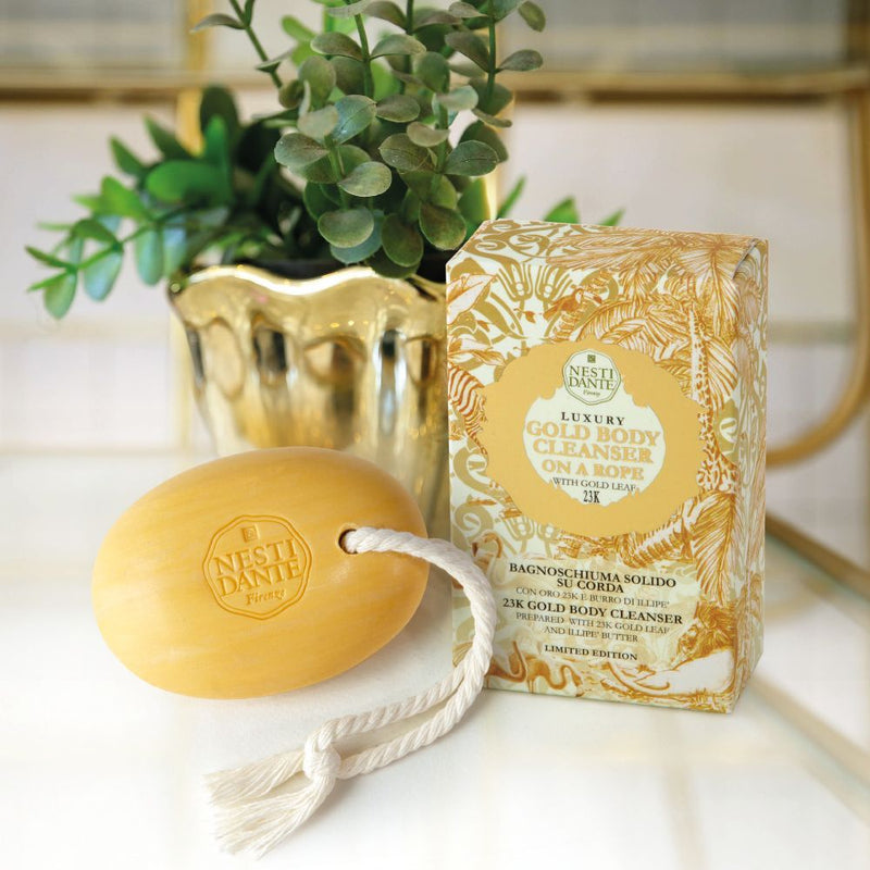 Nesti Dante-Luxury Gold Body Cleanser On a Rope 150gmCosmetics Online IE