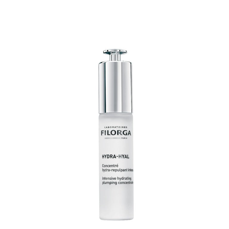""" Intensive Hydrating Plumping Concentrate ALL THE POWER OF PURE HYALURONIC ACID IN A CONCENTRATED SERUM TO INTENSELY PLUMP THE SKIN."""