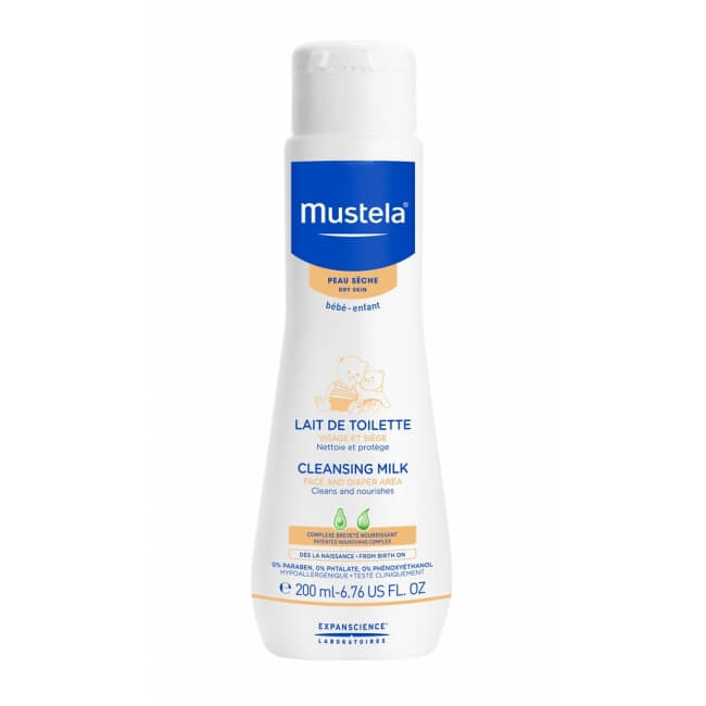 MUSTELA NORMAL SKIN FACE AND DIAPER AREA CLEANSING MILK 200MLCosmetics Online IE