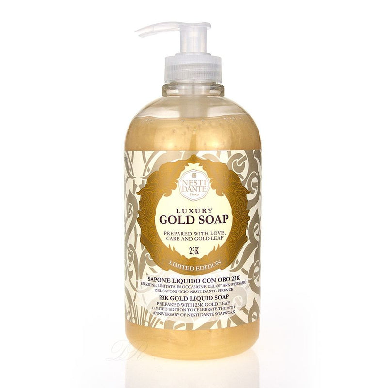 NESTI DANTE Luxury Gold Soap Hand & Body Wash - 500ml Pump BottleCosmetics Online IE