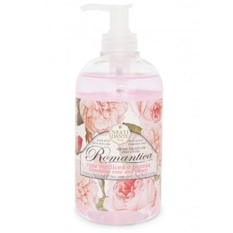 Nesti Dante Romantica - FLORENTINE ROSE & PEONY Liquid Soap 500ml Pump BottleCosmetics Online IE