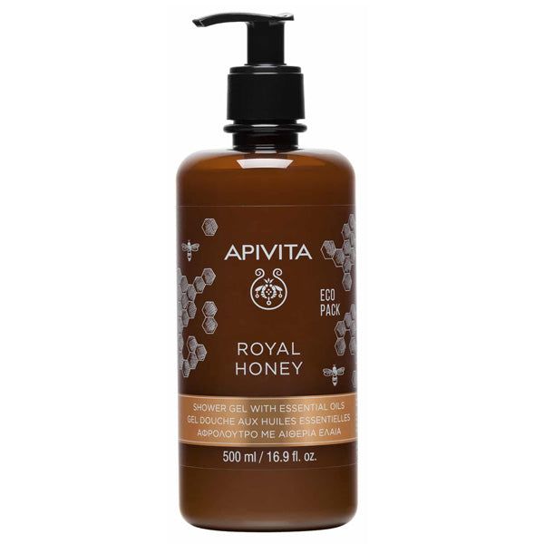 Apivita - Royal Honey Shower Gel with Essential Oils Creamy Shower Gel with Essential Oils & Honey - 500mlCosmetics Online IE