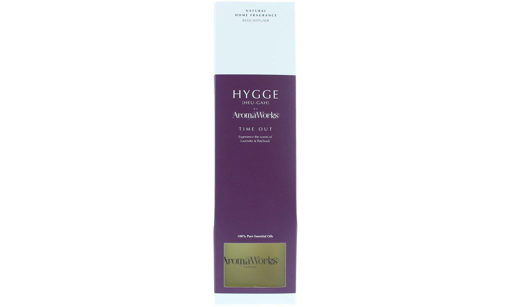 AromaWorks Hygge Reed Diffuser- Time Out Lavender and PatchouliCosmetics Online IE