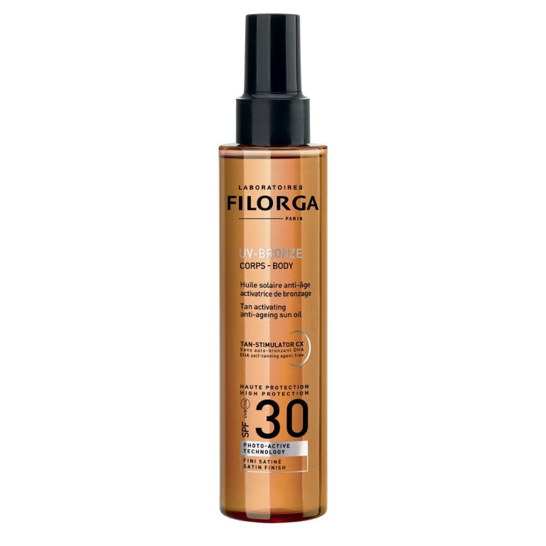 FILORGA UV-BRONZE BODY SPF30 (Anti-Ageing Tan Accelerating Sun Oil SPF 30)150MLCosmetics Online IE