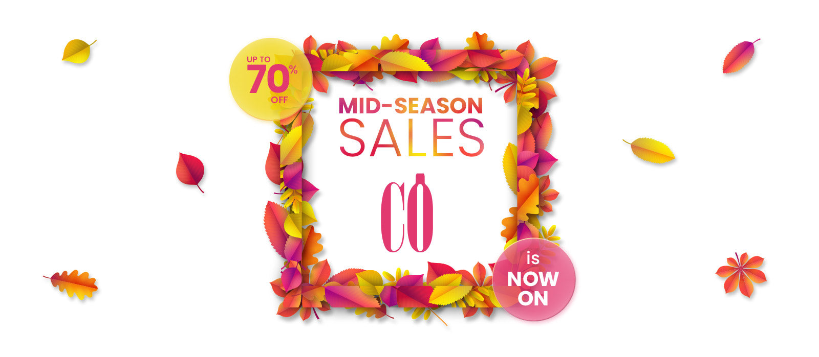 MID-SEASON SALE All At 50% Off