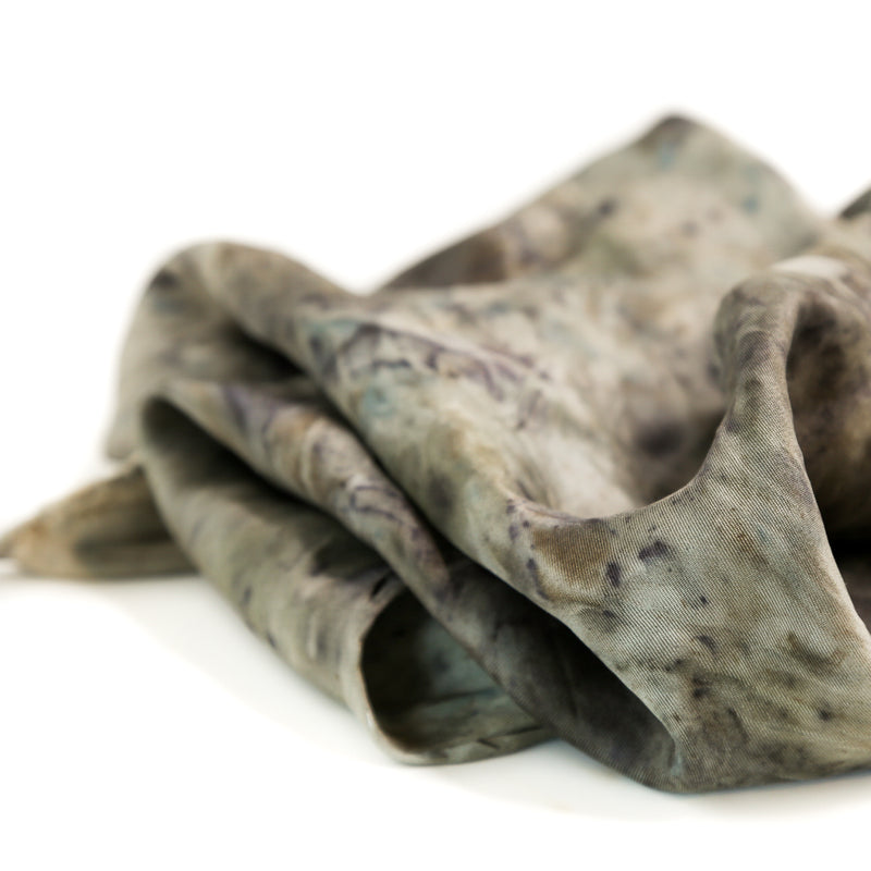 Medusa | Botanically Dyed Silk Tarot Scarf