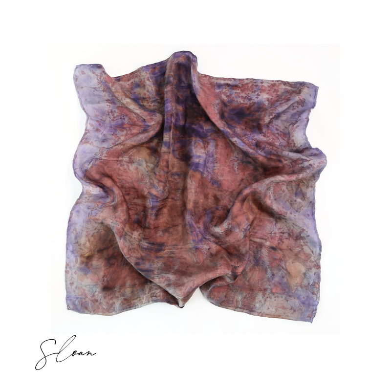Sloan | Botanically Dyed Silk Tarot Scarf