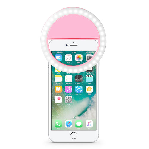 Powstro Flash 36-LED Smartphone Selfie Ring Light Fill Lights 4 Modes Srtobe Clip For iPhone 7 6 plus 6s 5s Samsung Sony Selfie