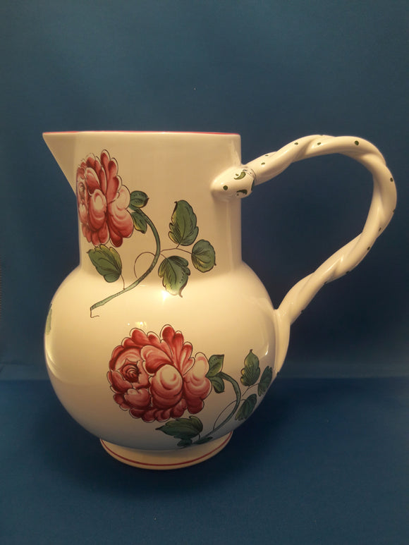 Tiffany & Co Porcelain Pottery Strasbourg Flower Pitcher Made In Portugal