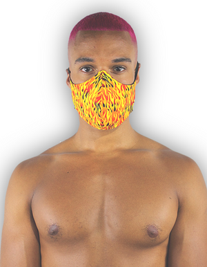 contoured face mask - 100% cotton
