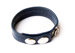 LEATHER COCKRING, BLUE