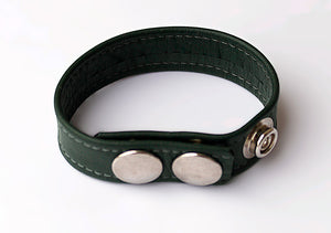 LEATHER COCKRING, GREEN