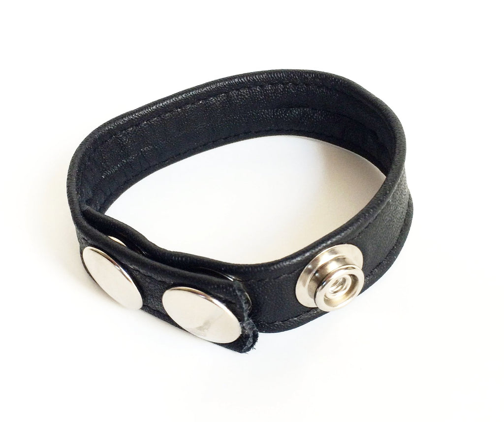 LEATHER COCKRING, BLACK