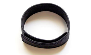LEATHER C-RING WITH VELCRO, BLACK