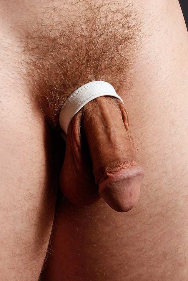 LEATHER C-RING, WHITE