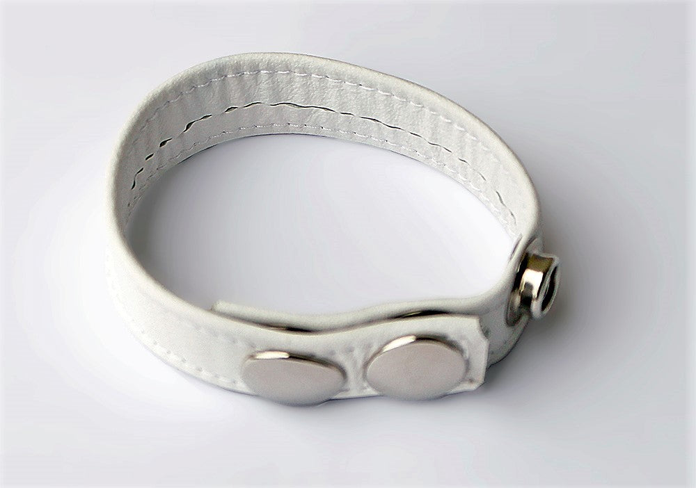LEATHER COCKRING, WHITE