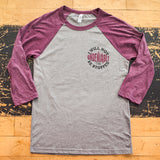 I Will Not Be Stopped Maroon and Grey Raglan