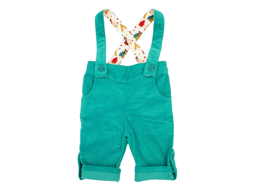 Little Green Radicals - Pantalon en velours bleu turquoise