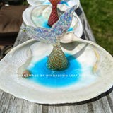 Mermaid Tail Seashell Ring Holder and Trinket Dish