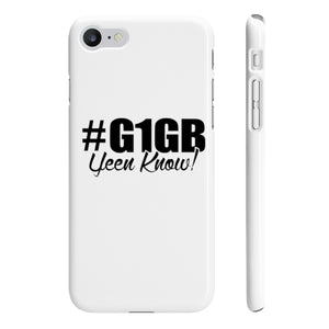 White #G1GB Phone Case